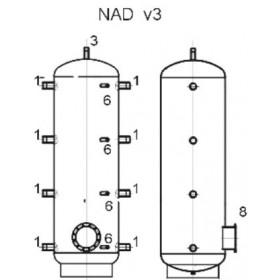 Storage tank 500 l, Dražice NAD 500 v3