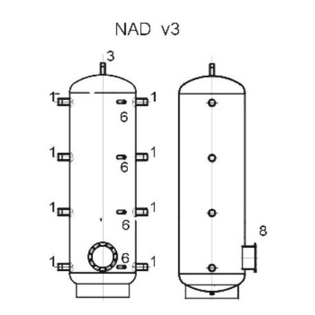 Storage tank 750 l, Dražice NAD 750 v3