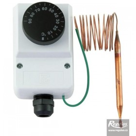 Encased adjustable capillary thermostat 0-90°C