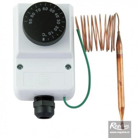 Encased adjustable capillary thermostat 0-90°C
