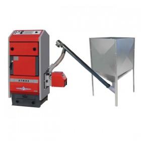 Pellet heating set Atmos pellet boiler D40P