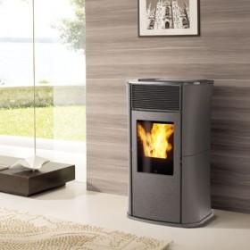 Kamin - pelletikamin - õhkküttekamin MYA steel 6 kW