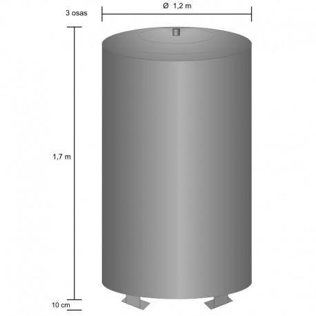 Storage tank 1900 l, pressurized