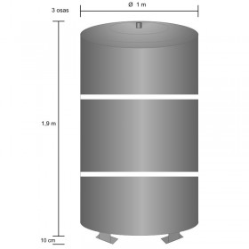 Akumulatsioonipaak 1500 l, kolmeosaline