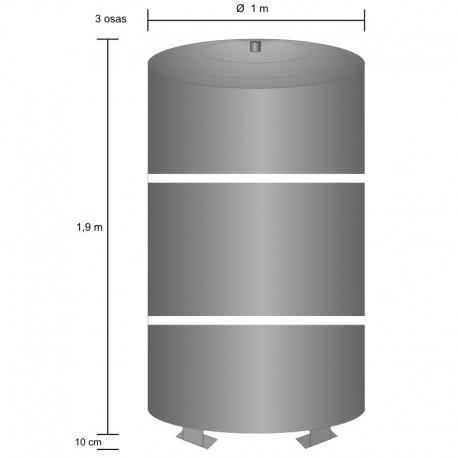 Storage tank 1500 l, 3 part