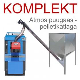 Pelletikütte komplekt Atmos pelleti - puugaasikatlaga