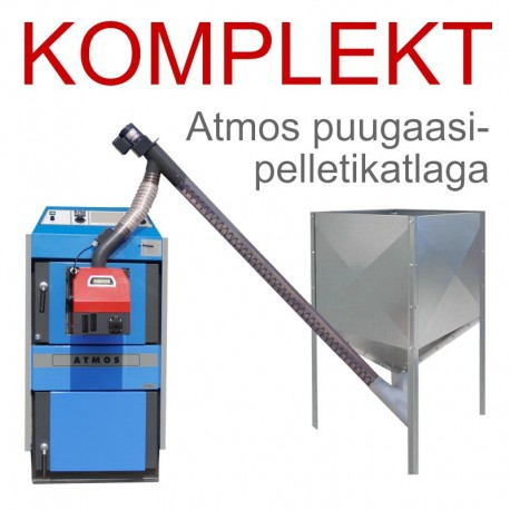 Pellet heating set Atmos wood gasification boiler