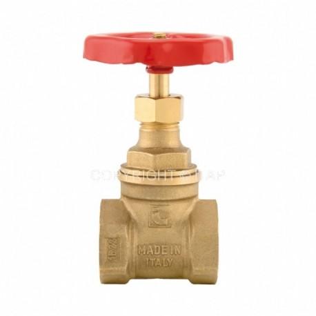 "Brass gate valve 1"", female, ITAP"