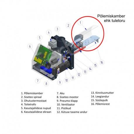 Tuletoru - põlemiskamber PV 30 pelletipõletile