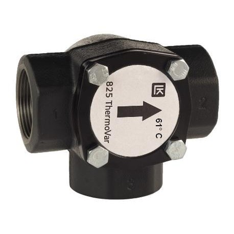 3-way thermic loading valve DN40, 61°C, Kvs 17, cast iron, LK 825 ThermoVar