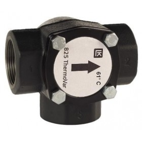3-way thermic loading valve DN50, 61°C, Kvs 21, cast iron, LK 825 ThermoVar