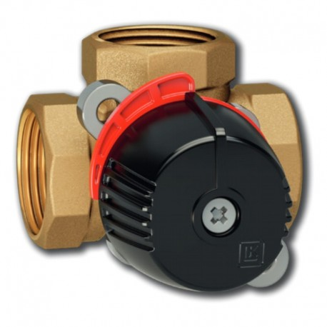 "3 T ventiil - seguventiil 1 1/4"" Kvs 16, messing, LK 840 ThermoMix® 2.0"