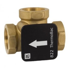 3-way check valve DN25, Kvs 14, brass, LK 822 ThermoBac
