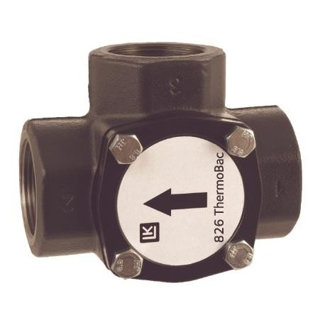 3-way check valve DN 40, kvs 24, Cast iron, LK 826 ThermoBac