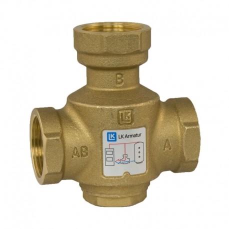 3-tie termostaattinen latausventtiili DN32, 65 °C, kvs 12, LK 823 ThermoVar