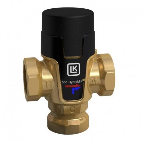 "Mixing valve ½"", 25-45 °C, Kvs 1,5 LK 551 HydroMix"