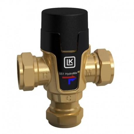 Mixing valve 22mm, 35-65 °C, Kvs 1,6, LK 551 HydroMix