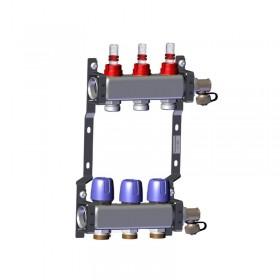 "Põrandakütte kollektor 3x1"" x 3/4"" rotameetritega komplekt LK 430"