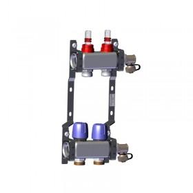 "Põrandakütte kollektor 2x1"" x 3/4"" rotameetritega komplekt LK 430"