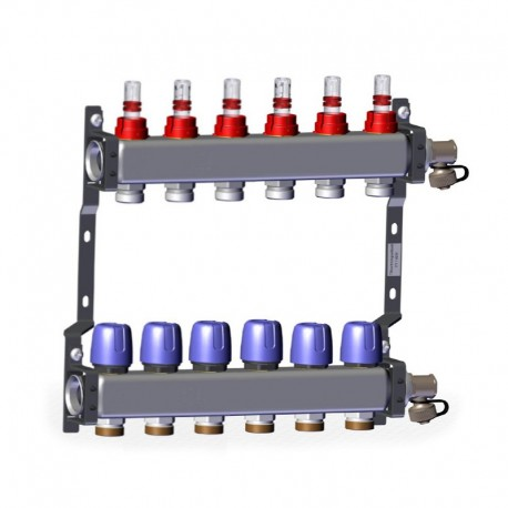 """Manifold with flow meters 6x1"""" x 3/4"""" LK 430"""