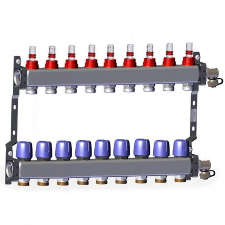 """Manifold with flow meters 9x1"""" x 3/4"""" LK 430"""