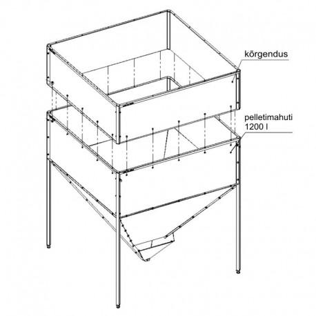 Pellet container 1800 l KIPI