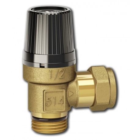 "Safety relief valve 1/2"", 0,6 MPa, LK 514 MultiSafe"