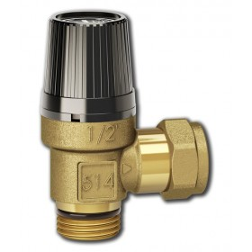 "Safety relief valve 1/2"", 0,9 MPa, LK 514 MultiSafe"