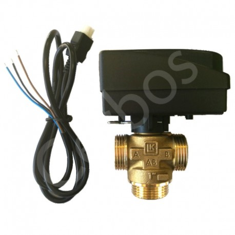 "Ajam (mootor) EMV 110-M, 230 VAC, 1m Molex® kaabliga ja 3-tsooniventiil 1"" LK 525"