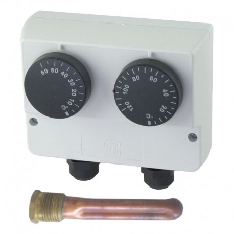 Double encased immersion thermostat 30-120 °C