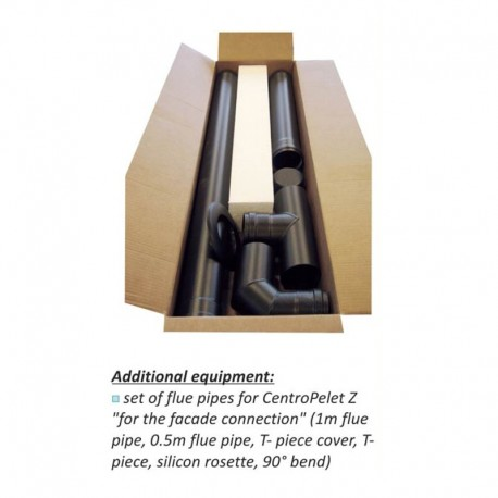 Set of flue pipes for Centrometal stoves Z and ZS