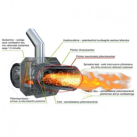 Põlemiskamber pelletipõletile KIPI 26 kW