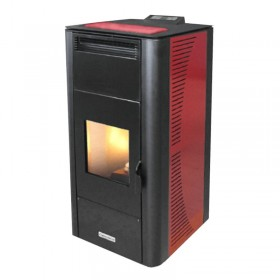 Keskkütte pelletikamin CentroPelet ZV20-B 18,46 kW Centrometal punane