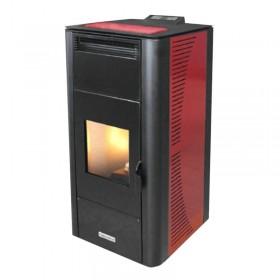 Keskkütte pelletikamin CentroPelet ZV24-B 5,1-22,14 kW Centrometal punane