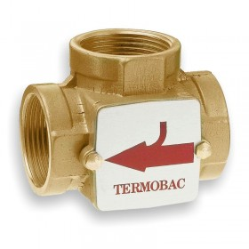 3-way check valve DN32, Kvs 16, brass, ThermoBac