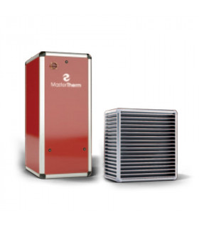 Õhk-vesi soojuspump Master Therm BoxAir 26IS Inverter Split punane koos interneti- ja laiendatud juhtmooduliga