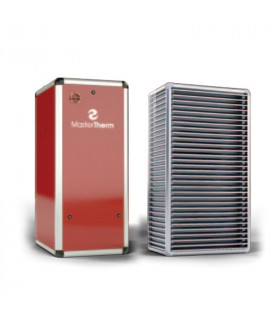 Õhk-vesi soojuspump BoxAir 37IS Inverter Split PLUS 5-17 kW Master Therm punane