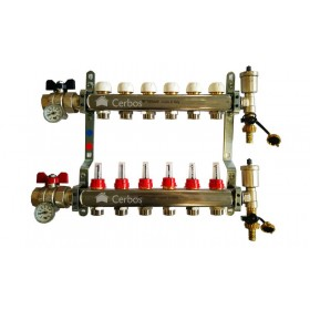 "Manifold with flow meters 6x1"" x 3/4"""
