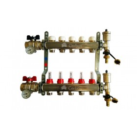 "Manifold with flow meters 5x1"" x 3/4"""