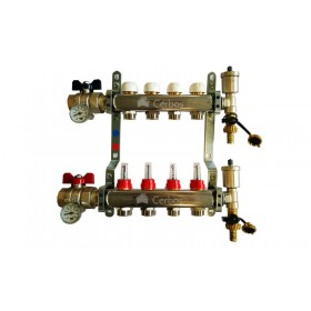 "Manifold with flow meters 4x1"" x 3/4"""