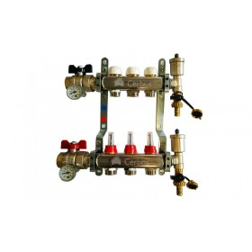 "Manifold with flow meters 3x1""x3/4"""
