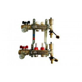 "Manifold with flow meters 2x1"" x 3/4"""