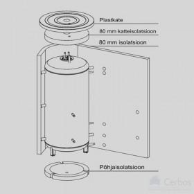 Insulation for storage tank NADO500/300V1