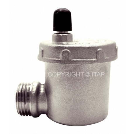 "Automatic air vent valve 1/2"", side inlet, 10 bar"