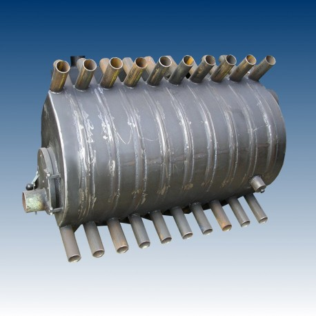 Air heating boiler, 17 tubes