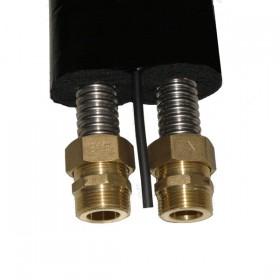 Isolated solar double tube DN20