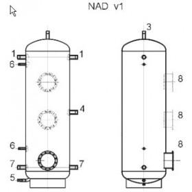 Storage tank 1000 l, Dražice NAD 1000 v1