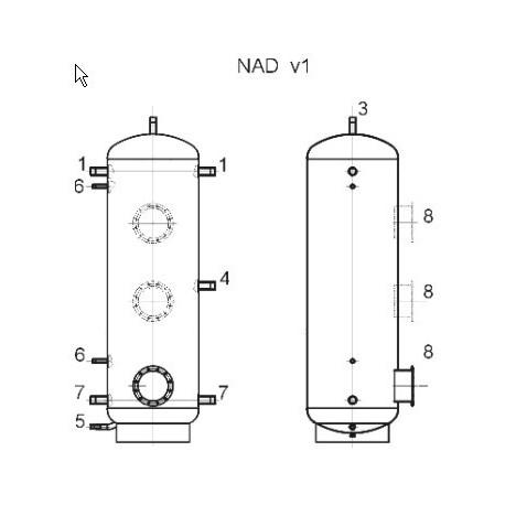Akumulatsioonipaak 1000 l, Dražice NAD 1000 v1