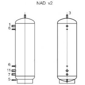 Akumulatsioonipaak 1000 l, Dražice NAD 1000 v2