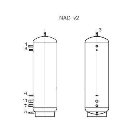 Storage tank 1000 l, Dražice NAD 1000 v2